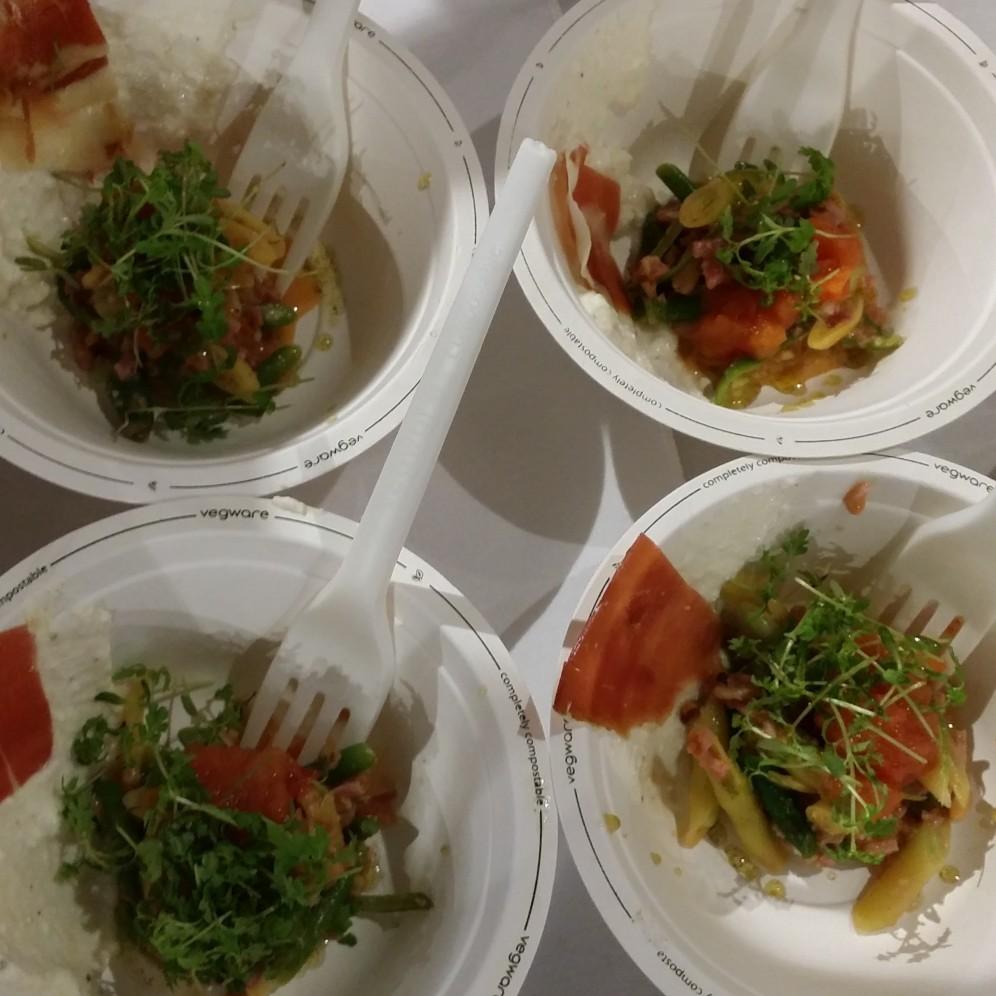 BLT BAR & GRILL Heirloom Bean Salad with Surryano Ham & Tomato