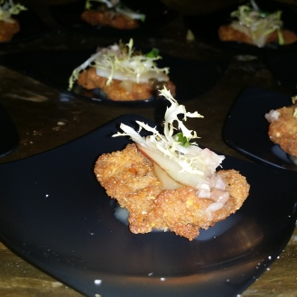 Kurobuta Schnitzel with Pear Mustard & Crispy Capers