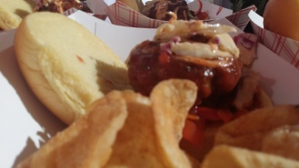 The George's Sloppy: Grilled Slider Topped with Italian Style Sloppy Joe Sauce