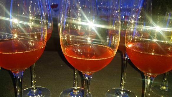 Selfie: Lillet Rose, Campari, ,Bonal Gentiane Quina, Raspberry and Sparkling Wine