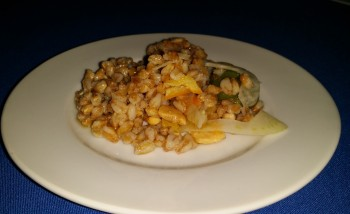 Barbuto/ Farro salad with fennel,olive meyer lemon and almond