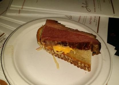 John Brown Smokehouse Pecan Smoked Pastami Reuben Sliders