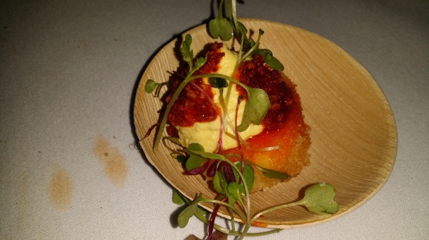 Tuome Crispy Deviled Egg with Chili