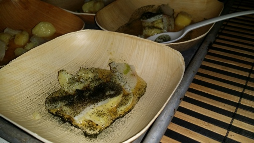 Open Blue Cured Open Blue Cobia with Green Curry, Potatoes, and Yuzukosho Broth