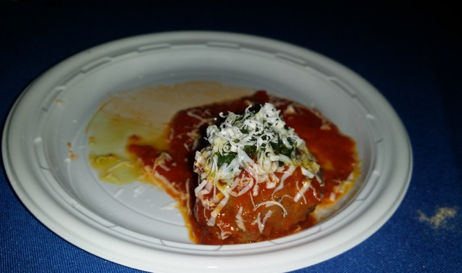 Almond/ Moroccan style lamb meatballs with salsa verde and ricotta salata