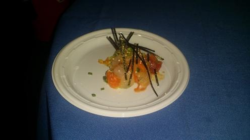 Clement/ Saffron chirashi with fluke