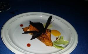 Juni/ Charred squash,smoked trout maple