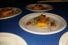Mintons/ Sweet potato creme brûlée, sweet tea molasses pickled raisins candied pecans