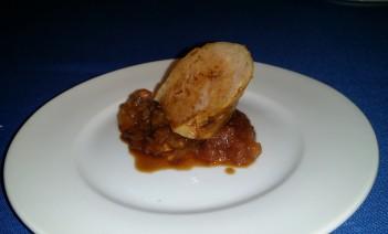 Telepan/ House made kielbasa with sauerkraut and apple compote