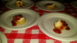 Pies N Thighs Homemade Buttermilk Biscuit with Cream Cheese and pepper jelly