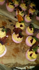 Root and Bone Drunken Deviled Eggs
