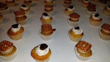 PROHIBITION BAKERY pretzels and beer and old fashion cupcakes