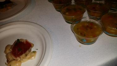GEMMA yellow tomato gazpacho and seared big eye tuna
