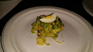 STANTON SOCIAL cobb salad bite with brussels sprouts