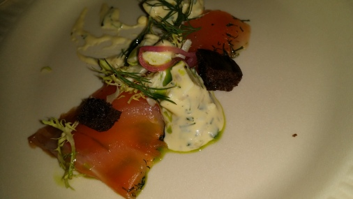 THE CLAM king salmon gravlax gribiche