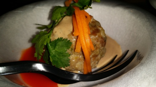 EMILY ban meatball with chicken liver cream