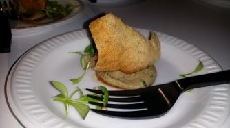 THE CECIL chicken liver puree with crispy cassava chip
