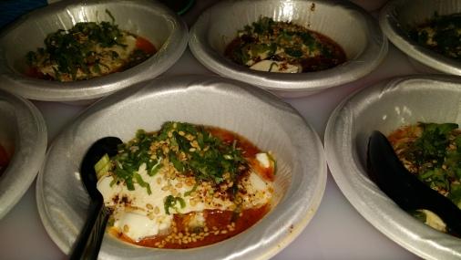 BAR CHUKO IZAKAYA chilled fresh tofu with chili oil