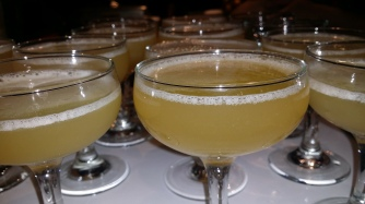 DEATH & CO. bait and switch: mezcal chili liquor pineapple lime juice with cinnamon syrup