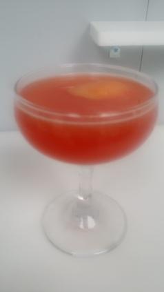 Clover Club courvoisier cognac lemon raspberry grapefruit orange bitters