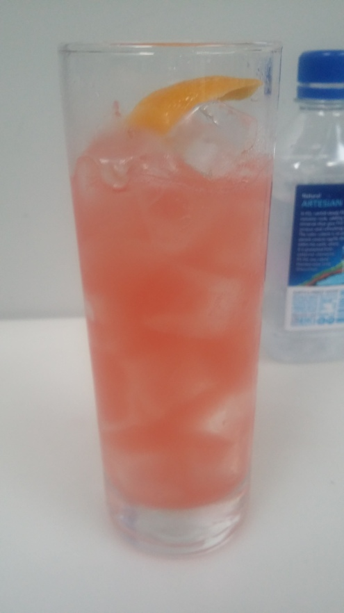 The Happiest Hour Belvedere Vodka Campari Grapefruit lemon