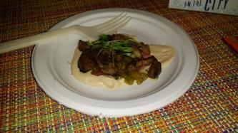 Lamb Shawarma with Hummus Amba