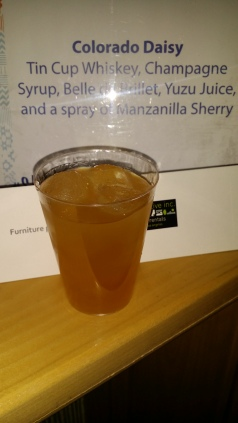 Tin Cup Whiskey Champagne Syrup Belle Yuzu Juice
