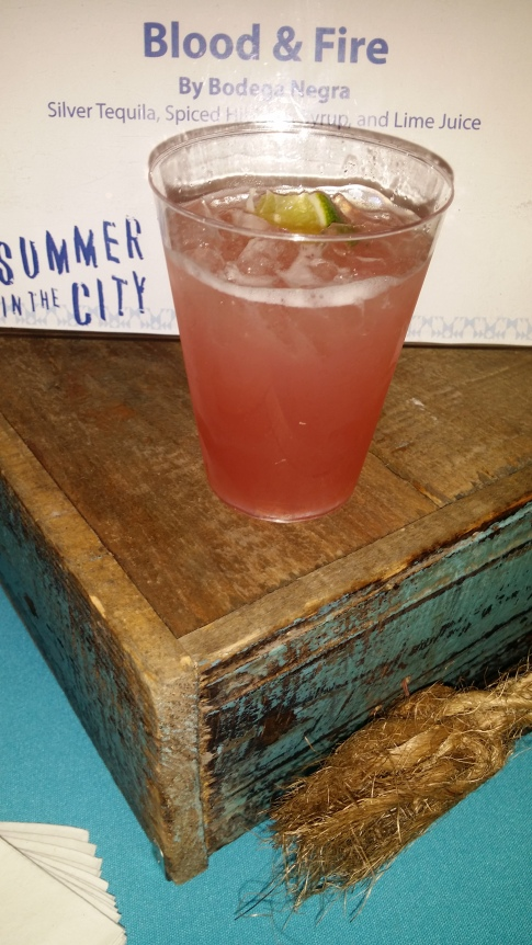 Blood and Fire : Tequila Hibiscus and Lime
