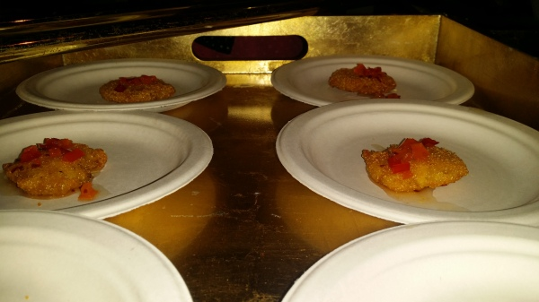 Fried Green Tomato with Pepper Jelly
