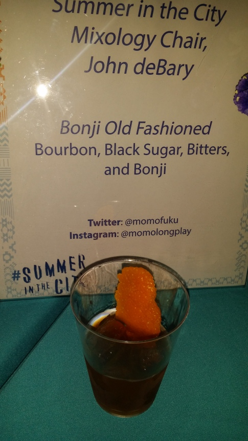 Bonji Old Fashion Bourbon Black Sugar Bitters and Bonji