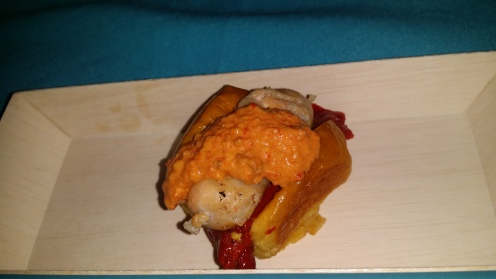 Scallop and Shrimp Sausage with Peppers and Toasted Brioche