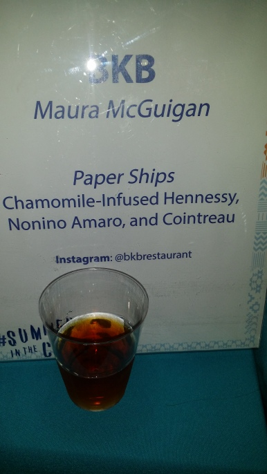 Paper Ships: Chamomile infused Hennessy Nonino Amaro and Cointreau