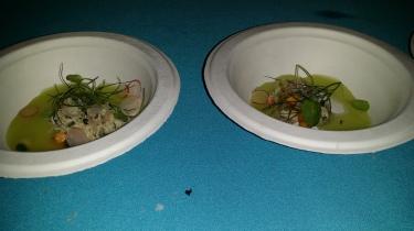 Crab Salad with Melon Cucumbr and Basil