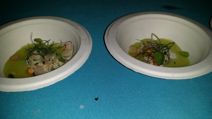 Crab Salad with Melon Cucumbr and Basil