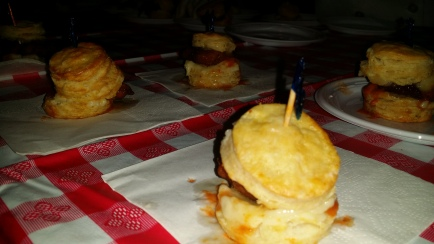 Mini Chicken Biscuit Ht sauce and Honey Butter