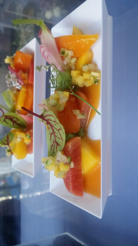 Gotham organic heirloom veg ceviche