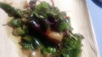 Morgans wagyu beef asparagus ramp
