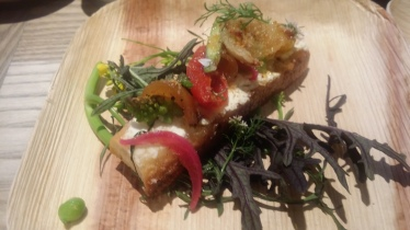 State grill early summer tartine