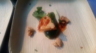 Tao yuan Lapsang suchong tea smoked chicken persian cucumbers sesame candied cashews