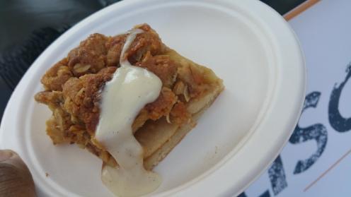 ROBICELLI's BAKERY fuji apple pie with miso caramel and vanilla bean tofu cream