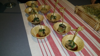 shrimp mushroom and watercress dumpling