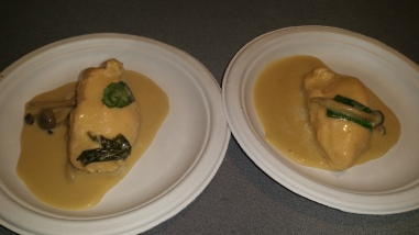 salmon quenelle with lemon grass coconut milk and thai basil