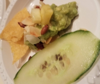 Grilled Pinapple and Toasted Coconut Guacamole with Pepino Enchilito
