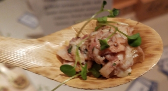 Grilled Octopus with Red Wine Macerated Onions Capers Fresh Herbs Lemon and Olive Oil